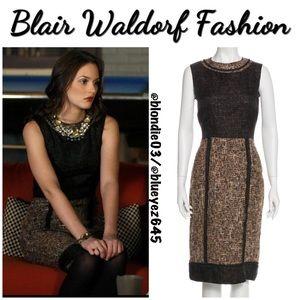 D&G Dolce & Gabbana brown/black tweed dress 38/US2
